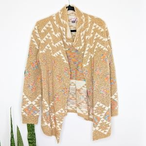 LOVE on a Hanger Boho Tribal print Cardigan